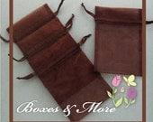 Brown Organza Bags - Set of 150 Bags - 4x6inch