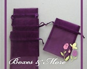 Purple Organza Bags - Set of 250 Bags - 4x6inch - Favor Bags - Wedding Favor Bags