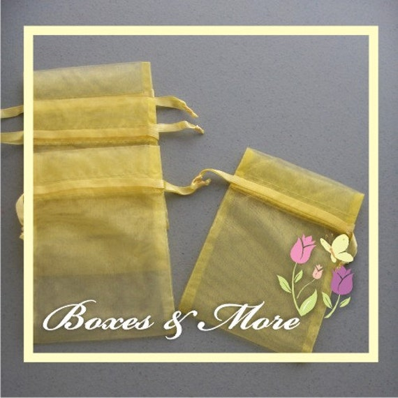 Baby Maize Organza Bags - Set of 50 Bags - 3x4inch