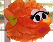 "Orange Goldfish tissue paper pompom kit, inspired by ""Dorothy, Elmo's Goldfish"" from Sesame Street"