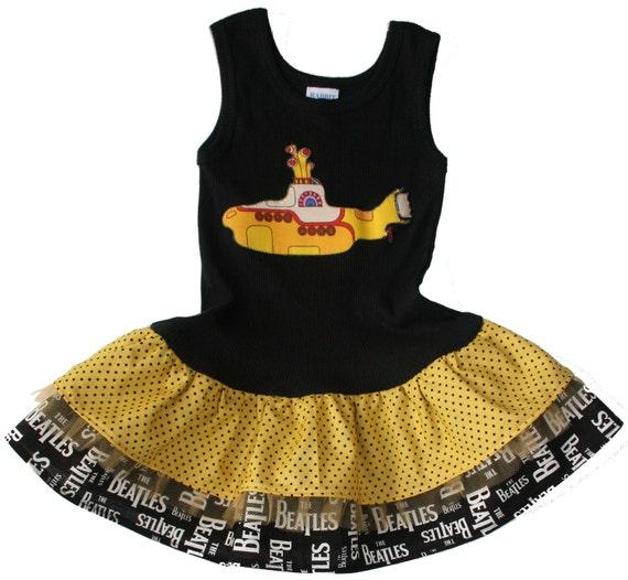Beatles Baby Yellow Submarine Tank Dress