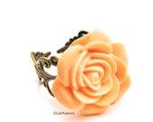 Apricot Tea Rose Ring