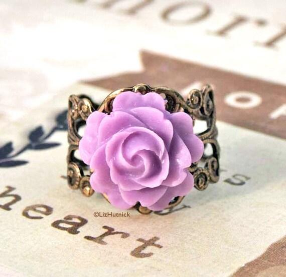 Twilight Rose Ring - FREE shipping