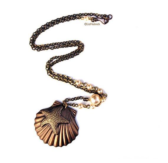 Brass Shell Necklace