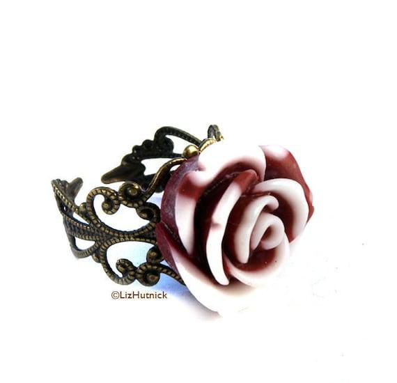 Wintermint Swirl Rose Ring