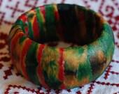 Afrik Batik Textile Wrapped Bracelet