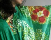 The voice of Greenery  Kaftan Robe - Perfect as a long dress, loungewear, beachwear, spas, for to be moms and more