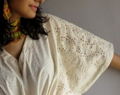 Eyelet Kaftan Top - Perfect for outings to be worn over jeans or leggings, lounges, beaches, spa robes, to be mums, best gift for her
