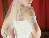 Elbow Length Chantilly Lace Edge Veil