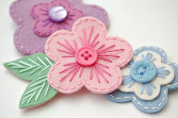 Pastel Blossoms Hair Clip Set