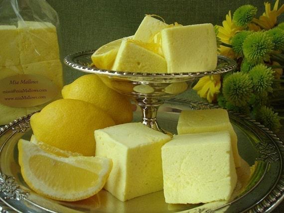 6 Gourmet Lemon Marshmallows