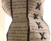 Gothic Heroine Submissive Marthe paper corset sculpture black
