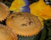 Wheat, Yeast,  Gluten, Soy, and Dairy Free Cranberry Muffins - 1 dozen
