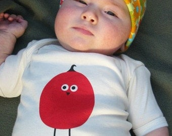 ORGANIC Egg/bird Onesie (natural, short-sleeved)