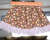 Spring Collection 2011........Dragonflies and Butterflies ruffle skirt.....Size 3T/4T