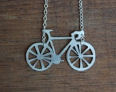 Sterling Bicycle Necklace