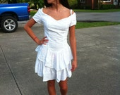 Reserved for Phuong-Vintage 80's eyelet sundress
