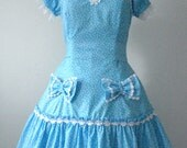 One of a Kind Baby Blue Dolly Dress