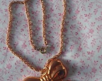 Copper Bow Pendant