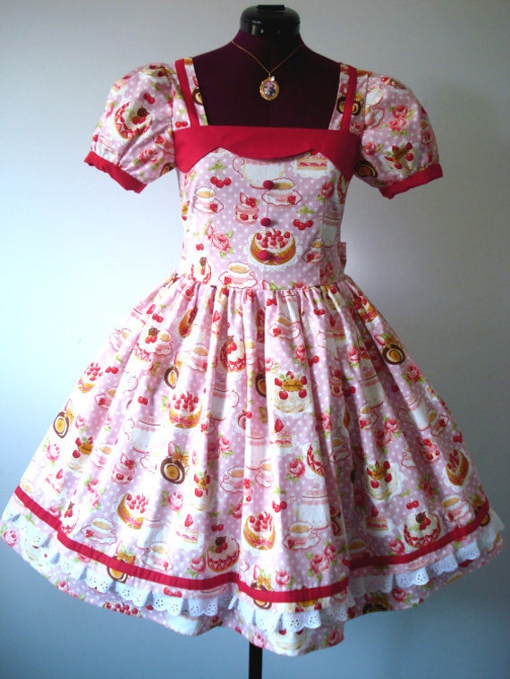 One Of A kind Cupcake Lolita Dolly Dress