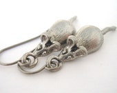 LAST PAIR Mouse Rat Earrings Moving Tail Surgical Steel Hypoallergenic