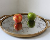 Vintage Rubbermaid Mirrored Lazy Susan Tray