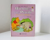 Winnie the Pooh and Eeyore's Birthday - vintage children's storybook by A.A. Milne - Walt Disney Productions -  A Golden Book - 1974