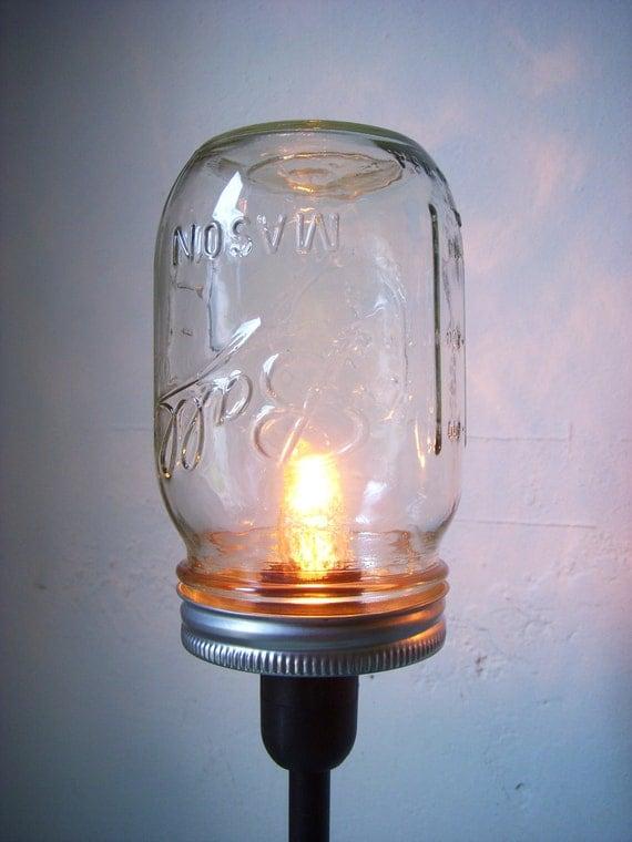mason jar lighting fixtures. 2 mason jar table lamps upcycled lighting fixtures lights industrial modern contemporary home decor bootsngus lamp design