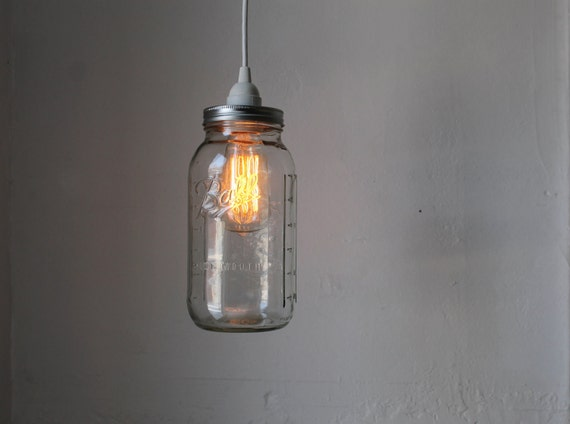 Mason Jar Pendant Lamp Large Half Gallon Mason Jar Hanging