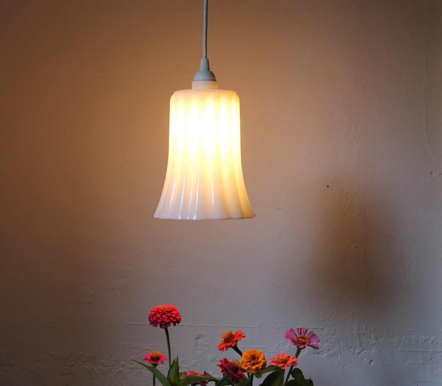 Milk Glass Pendant Lamp Hanging Pendant Lighting Fixture