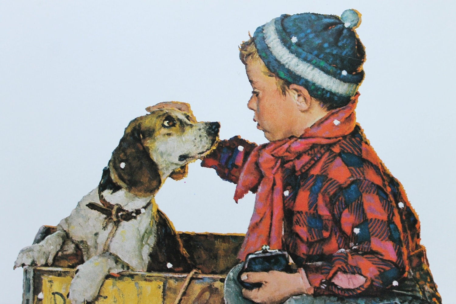 Norman Rockwell Winter 1958 Vintage Norman Rockwell Art