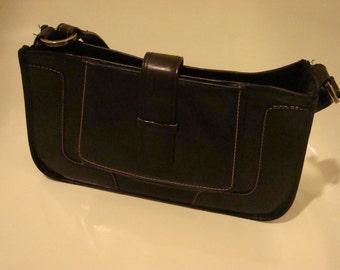 vintage black leather BCBG purse