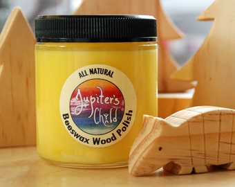 Beeswax Wood Polish with Organic Jojoba Oil (4oz & 6oz options)