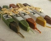 Natural Sealing  Wax 5 sticks EARTH COLORS for stamp seal, ECO plastic-free non-toxic, gift-wrapped