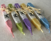 Natural sealing wax 5 sticks pastel colors with wick seal wax