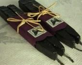 Natural Sealing Wax 4 sticks BLACK for seals handmade