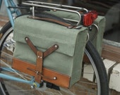 Swiss Army Bicycle Bike Pannier & Shoulder Bag (Pair)