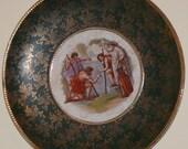 Antique Victorian Porcelain Portrait Charger Plaque Austria