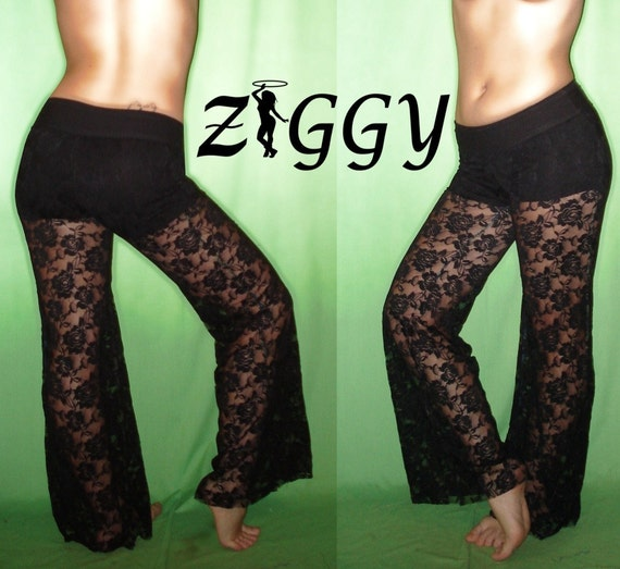 Custom Sheer Lace Pants with Under Shorts