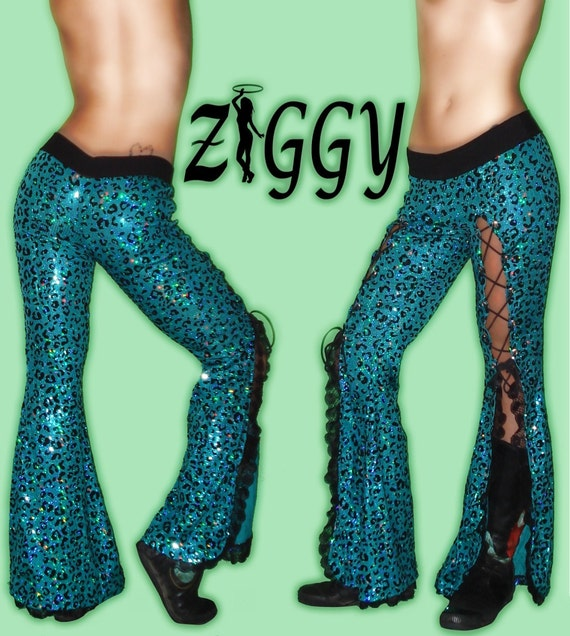 Custom Lace Up Sparkle and Lace Dance Pants