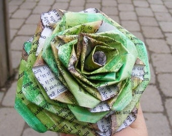 Paper rose from book pages - fully customizable