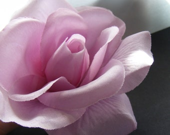 ROSE lavender - customizable on bobby pin, barrette, comb or alligator clip