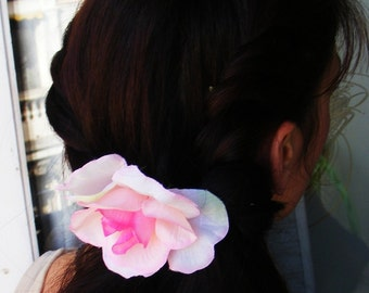 ROSY pink - customizable on bobby pin, barrette, comb or alligator clip