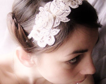 HEADBANDERS - vintage appliqué on satin band - fully customizable