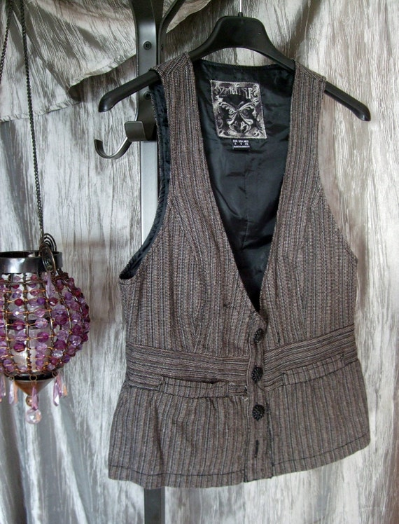 Steampunk vest - tweed and lovely - Sherlock Holmes-ish