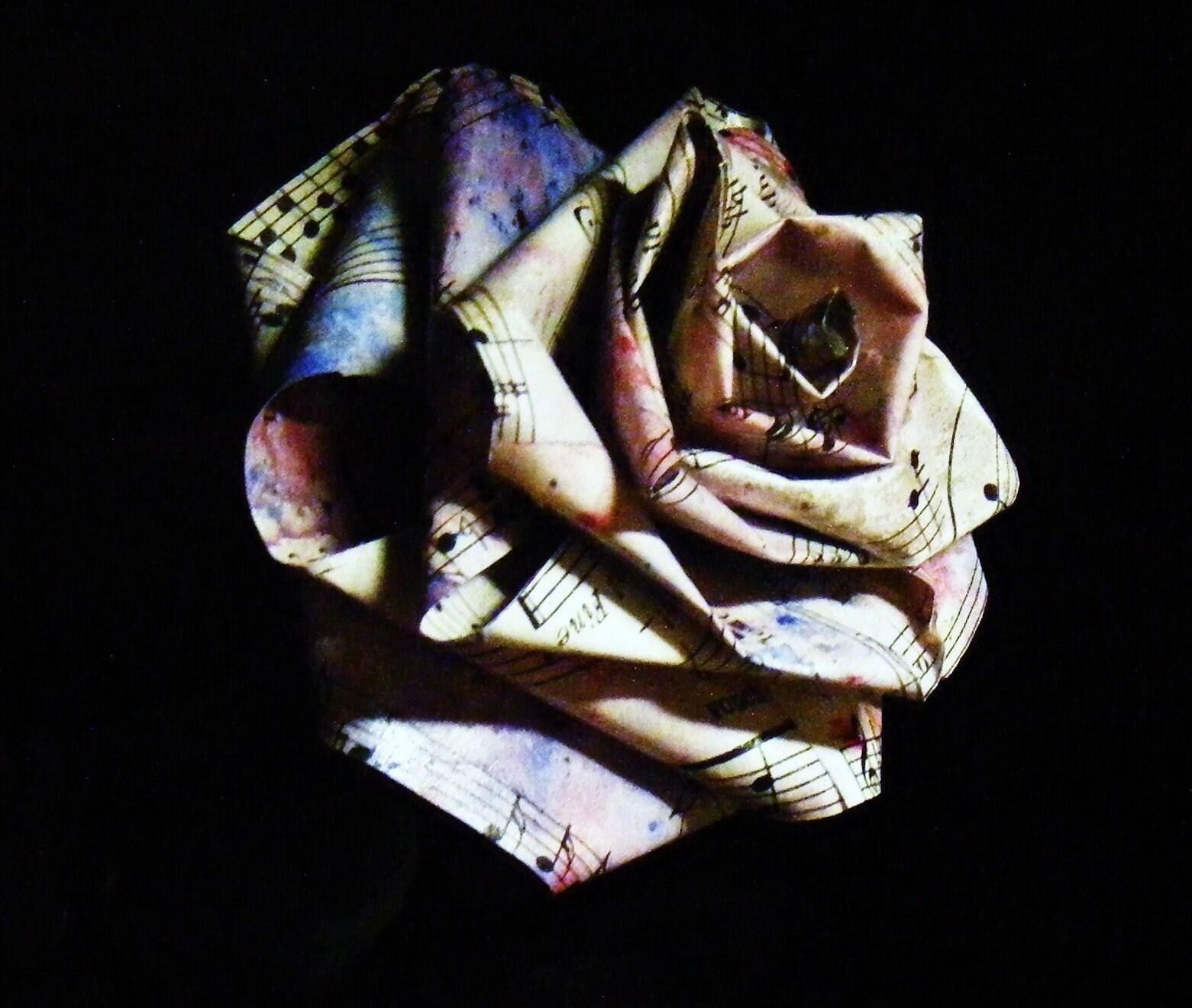 petal paper sheet music paper roses