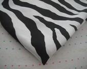 SECONDS SALE - Black and White Zebra Satin Lining Fabric (Fat Quarter - 18 x 34)