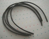 Black Skinny Plastic Headbands (12)