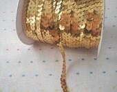 Gold Sequin Trim - 5 Yards