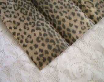 Brown and Black Leopard Print Tissue Paper, Decoupage Craft Paper, 20x30 - 5 Sheets